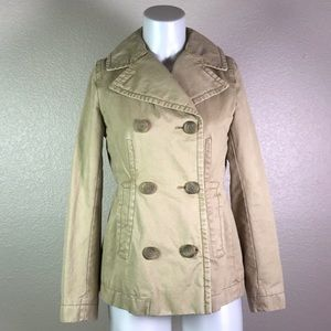 BANANA REPUBLIC TAN TRENCH PEACOAT